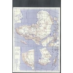 Afrika/Austrálie - obrysová mapa slepá s pokreslovací folií  DOPRODEJ