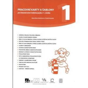 Pracovní karty a šablony pro činnostní učení českému jazyku v 1.ročníku