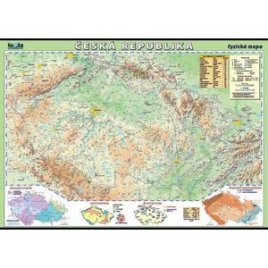 Česká republika - fyzická mapa XL - nástěnný obraz /100x70cm/  včetně lišt