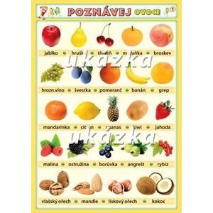 Poznávej ovoce 1 - ovoce, zelenina (tabulka 1xA4)