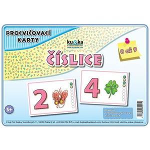Procvičovací karty - Číslice (10 karet A7, číslice 0-9)