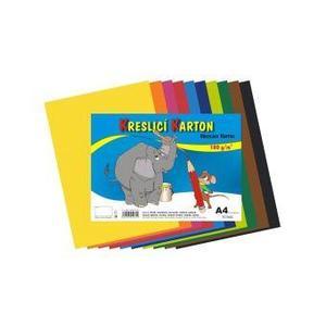 Kreslící karton A4/125g/50 listů MIX 10 barev