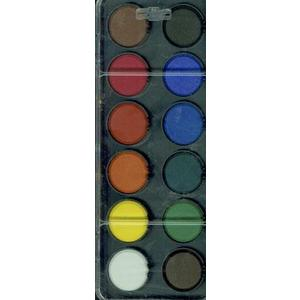 Vodové barvy 12 barev VELKÉ