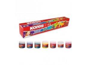 Barvy prstové 6+1 x 30 ml  Kores