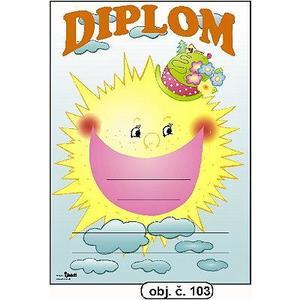 "Diplom A5 ""Sluníčko""   (obj.č. 103)"